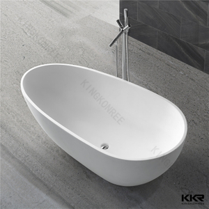 Oval shaped solid surface bathtub KKR-B001