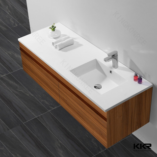 Solid Surface White Schrankbecken KKR-1551